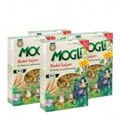 4 x Mogli Nudel-Safari Hartweizennudeln Bio