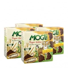 4 x Mogli Tiger-Kekse Bio-Kakao-Butterkekse