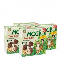 4 x Mogli Kakao-Butter-Tiger-Kekse Bio