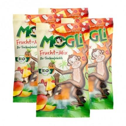 Mogli Bio Frucht Mix Trockenfrüchte (4 x 40 g)