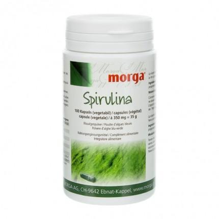 BIOREX Health-Line Spirulina Vegicaps mit Vitamin B12 und Eisen, Kapseln