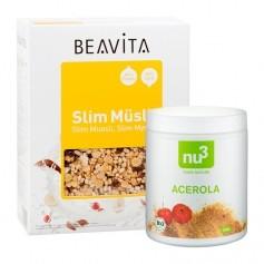 Müsli-Mix 2: BEAVITA Slim Müsli + nu3 Bio Acerola