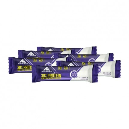 6 x Multipower 32% Protein Bar Coconut