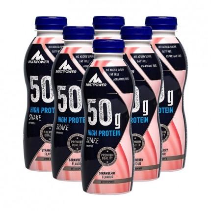 6 x multipower 50 g high protein protein shake erdbeere. Black Bedroom Furniture Sets. Home Design Ideas