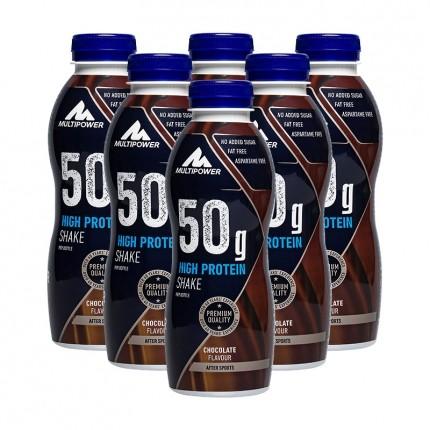 6 x Multipower 55g Protein Shake Schoko