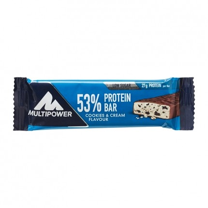 IronMax grøn te ekstrakt + Multipower 50 % protein bar cookies & cream