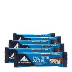 6 x Multipower 50% Protein Bar Cookies & Cream