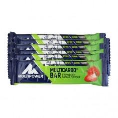 6 x Multipower Multicarbo Bar Erdbeer-Vanille