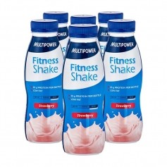 6 x Multipower Fitness Shake Erdbeer