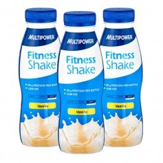 3 x Multipower Fitness Shake Vanille