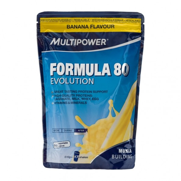 multipower formula 80 evolution banana powder with nutrients. Black Bedroom Furniture Sets. Home Design Ideas