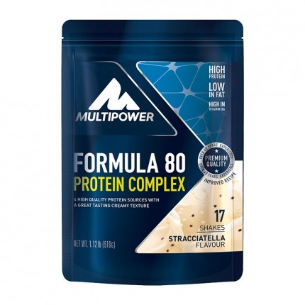 Multipower Formula 80 Evolution, Stracciatella, Pulver, 510 g