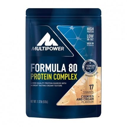 Multipower Formula 80 Protein Complex, Cookies-Cream, Pulver (510 g)