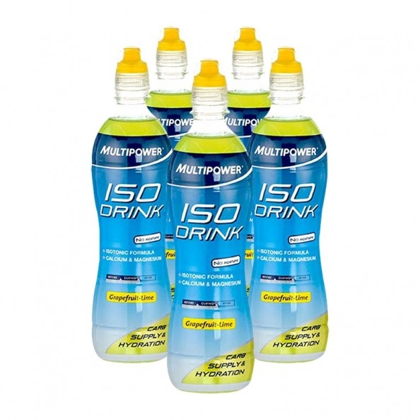Multipower Iso Drink Grapefruit - Lime - 5x500 ml
