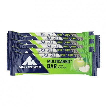 6 x Multipower Multicarbo Bar Apfel