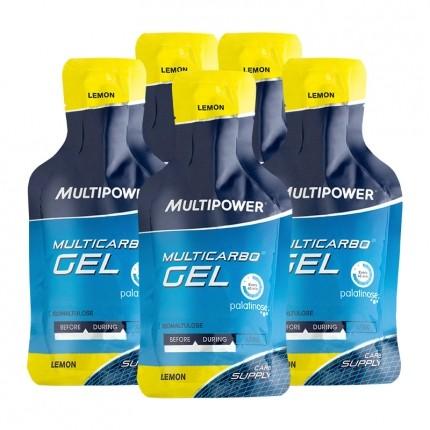 5 x Multipower, Multicarbo citron, gel
