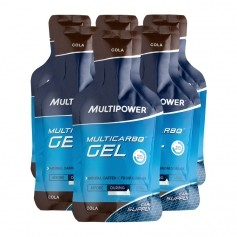 Multipower, Multicarbo Gel, cola, lot de 6