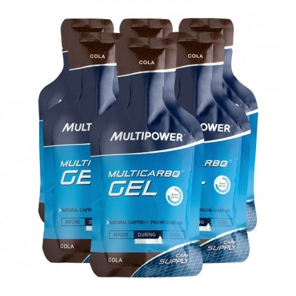 6 x Multipower Multicarbo Gel Cola