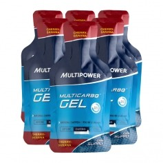 6 x Multipower Multicarbo Gel Kirsch-Banane