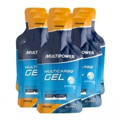 6 x Multipower Multicarbo Gel Orange