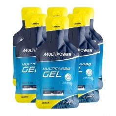 6 x Multipower Multicarbo Gel Zitrone