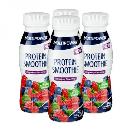 4 x Multipower Protein Smoothie Raspberry Blueberry