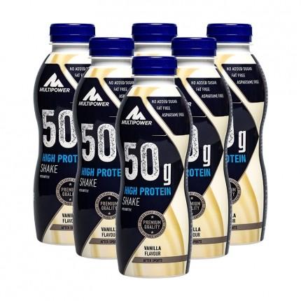 Multipower, Shake protéiné, vanille, lot de 6