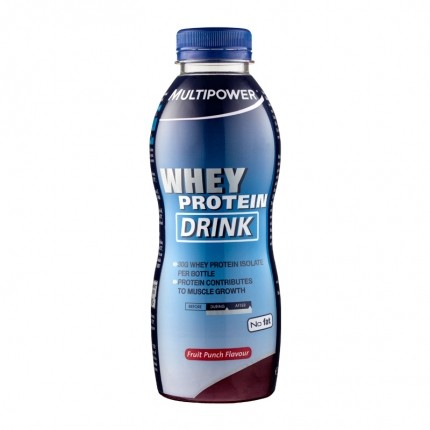 Multipower whey protein drink fruit punch