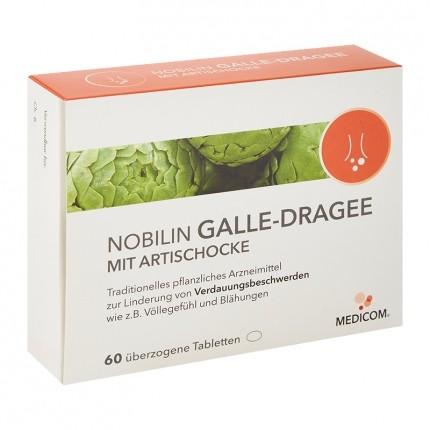 Nobilin Galle-Dragee mit Artischocke (60 Kapseln)