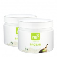 nu3, Baobab bio, poudre, lot de 2