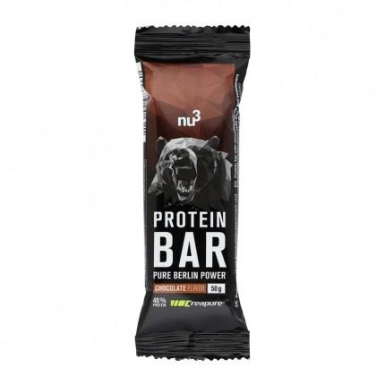 nu3, Barre protéinée 40%, chocolat, lot de 6