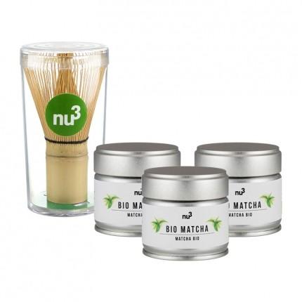 nu3 Bio 3 x Matcha Tee + Matcha Besen