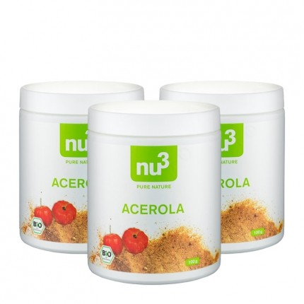 3 x nu3 Bio Acerola, Pulver