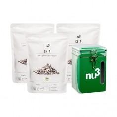 nu3 Bio Chia, ganze Samen + Naturdose