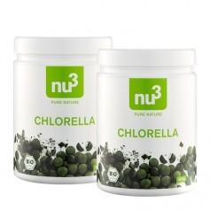 2 x nu3 Chlorella, Bio-Tabletten