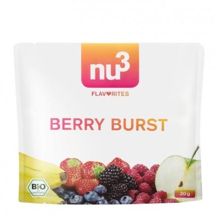 3 x nu3 Flavorites Berry Burst Bio-Smoothie, Pulver