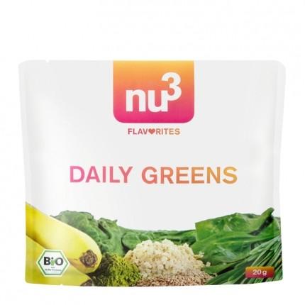 6 x nu3 Flavorites Daily Greens Bio-Smoothie, Pulver