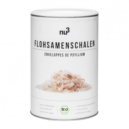 Bio Flohsamen-Schalen von nu3
