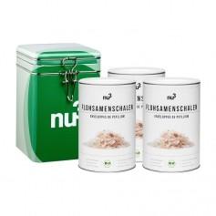 nu3 Bio Flohsamen-Schalen mit Naturdose