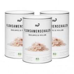 3 x nu3 Bio Flohsamen-Schalen