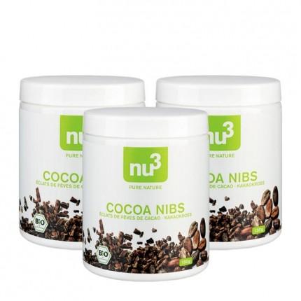 3 x nu3 Bio Cocoa Nibs
