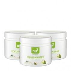 3 x nu3 Kokoswasser, Bio-Pulver