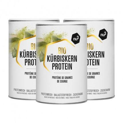 nu3 Bio Kürbiskernprotein, Pulver (3 x 500 g)