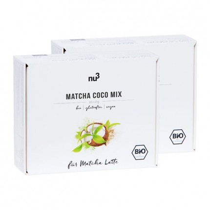 2 x nu3 Bio Matcha Coco Mix, Sticks