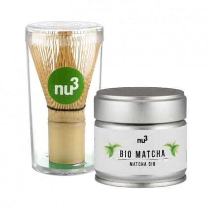 nu3 Bio Matcha Profi-Paket: Bio Matcha Tee mit ...