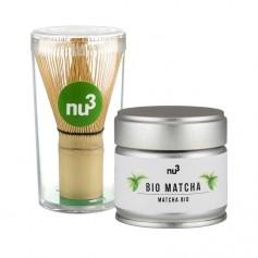 nu3 Matcha Profi-Paket: Bio Matcha Tee mit Matcha Besen