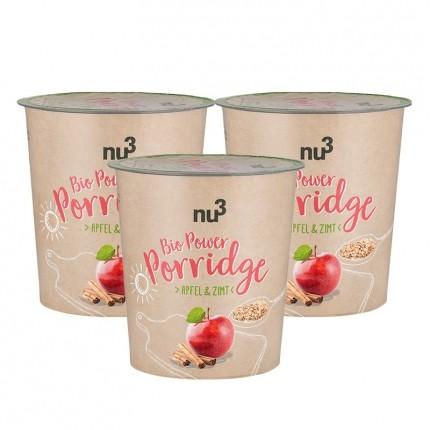 nu3 Bio Power Porridge, Apfel & Zimt