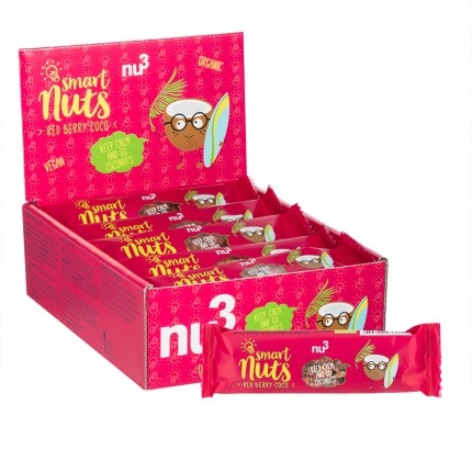 nu3 Bio Smart Nuts Red Berry Coco, Riegel (15 x...