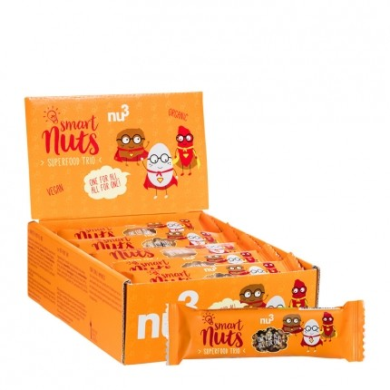 nu3 Bio Smart Nuts Superfood Trio, Riegel (15 x...