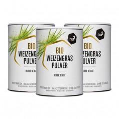 3 x nu3 Bio Weizengras, Pulver